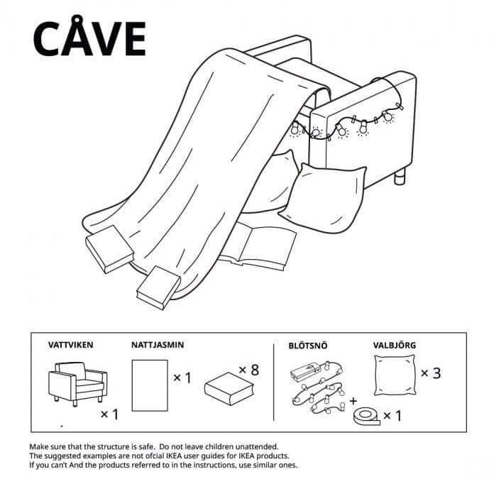 Furniture forts by IKEA